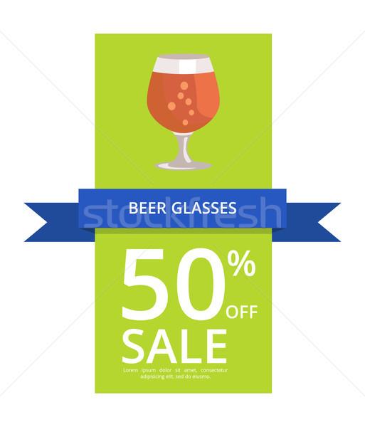 Cerveja óculos 50 venda ícone Foto stock © robuart