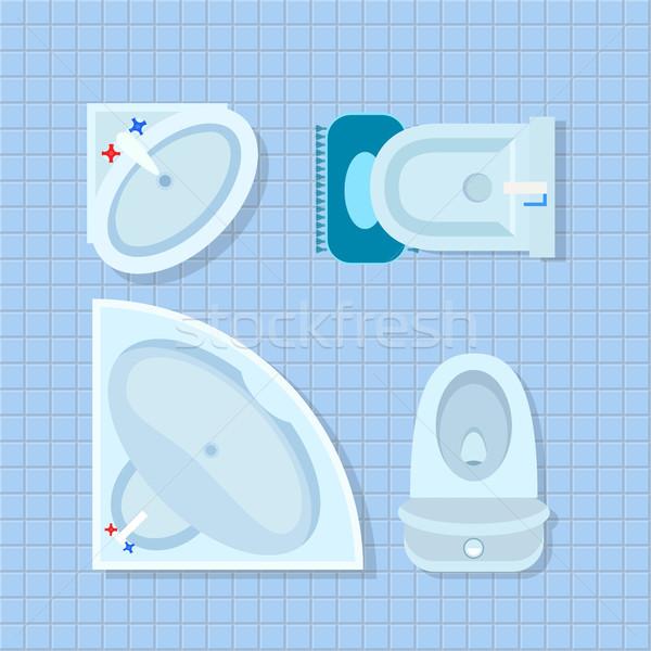 Bathroom Interior Design on Vector Illustration Stock photo © robuart