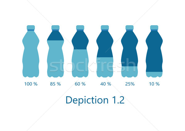 Stock photo: Depiction of Percentage Rate Water Aqua Vector