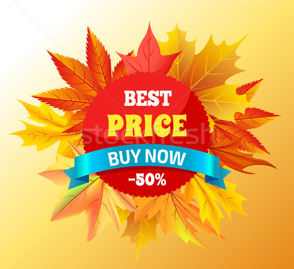 Best Price Buy Now -50 Promo Label Design Maple Stock photo © robuart