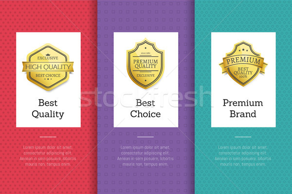 Best Quality Premium Brand Choice Golden Label Set Stock photo © robuart