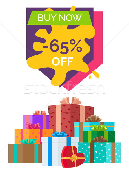 Buy Now Sale Clearance Vector Illustration Stock photo © robuart