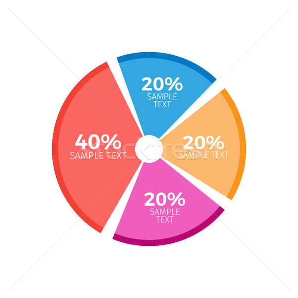 Circle Diagram Infographics Chart with Equal Parts Stock photo © robuart