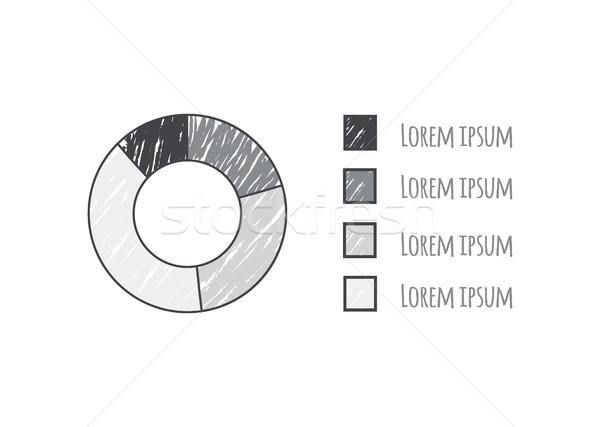 Rajz pite diagram adat különböző magyarázat Stock fotó © robuart