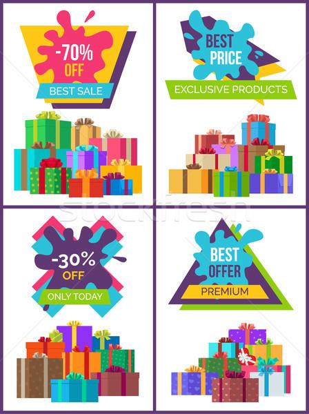 Legjobb ár termékek poszter ajándékok exkluzív promóciós Stock fotó © robuart