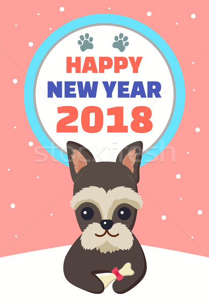 Happy New Year 2018 Symbol Vector Illustration Stock photo © robuart