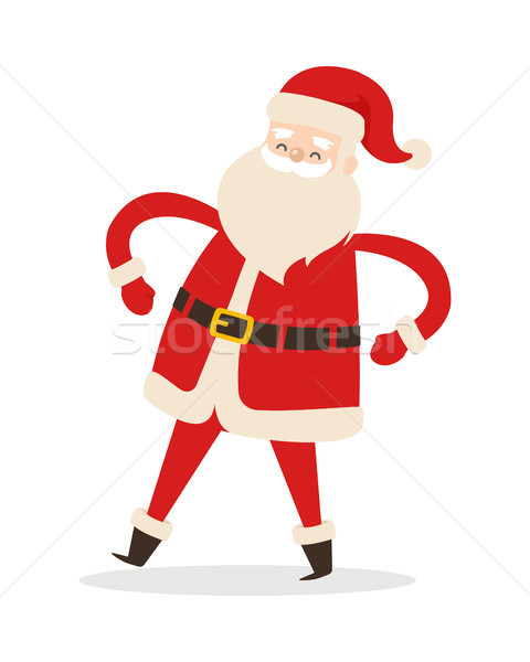 Santa Claus with arms akimbo isolated on white Stock photo © robuart