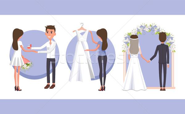 提案 結婚式 日 彼氏 リング ストックフォト © robuart