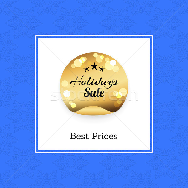 Best Prices Holidays Sale Golden Round Label Stars Stock photo © robuart