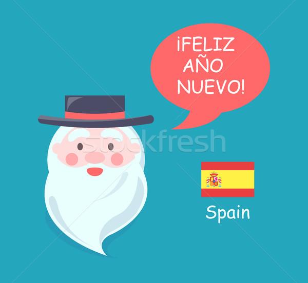 Spain Santa Claus Phrase Translation Vector Illustration Stock photo © robuart