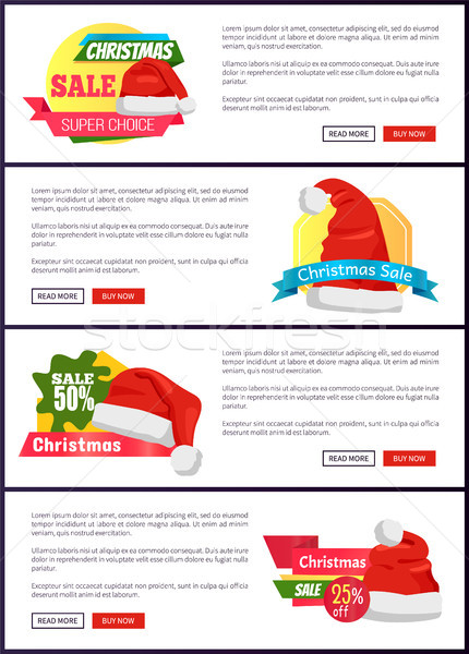 Super Choice Christmas Sale Web Banners Buttons Stock photo © robuart