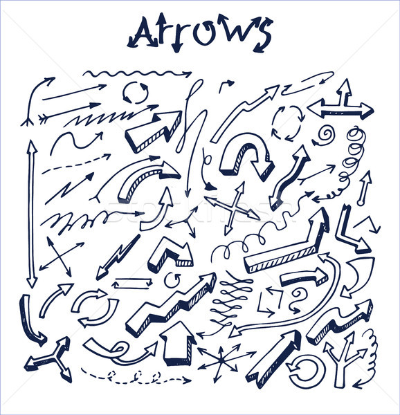 Lot of Pretty Arrows Sketches Vector Illustration Stock photo © robuart