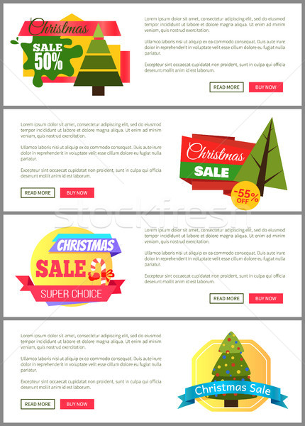 Set of Christmas Sale Super Choice Half Cost Cards Stock photo © robuart