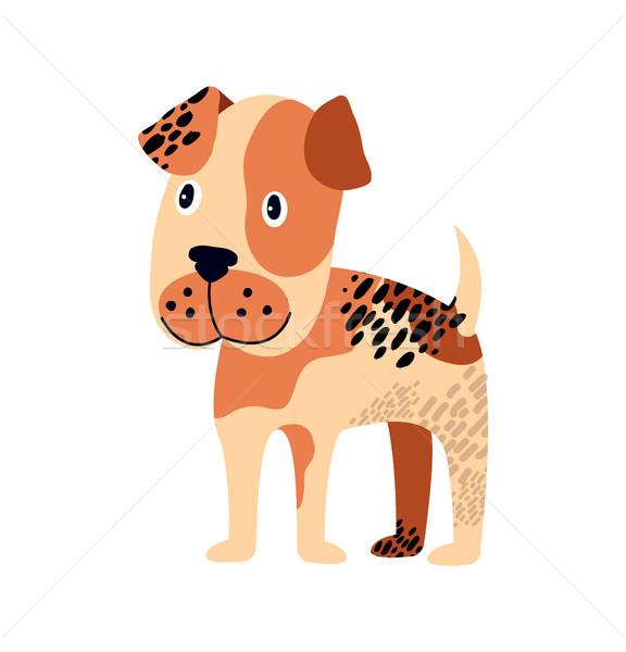 Spotted Dog of Brown Color on Vector Illustration Stock photo © robuart
