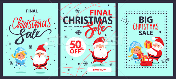 Big Final Christmas Sale Holiday Discount Shop Now Stock photo © robuart