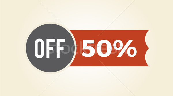 50 off Sale Clearance Icon Vector illustration Stock photo © robuart