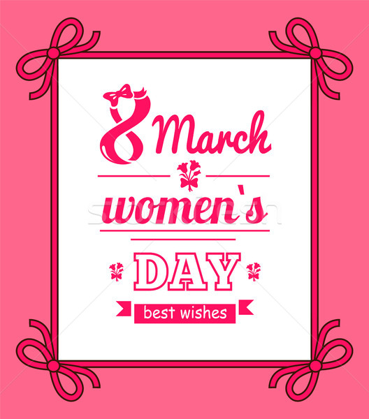 8 March Womens Day with Bows Vector Illustration Stock photo © robuart