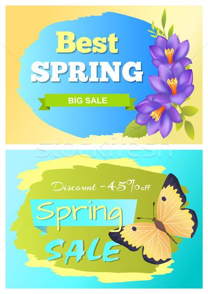 Najlepszy wiosną duży sprzedaży reklama Zdjęcia stock © robuart