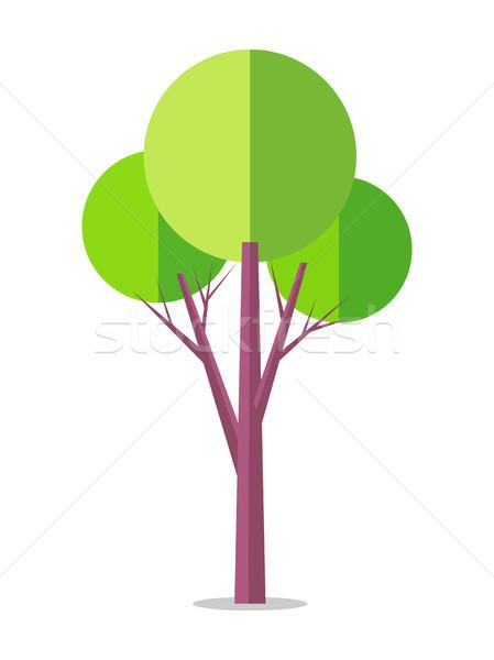 Fa ikon izolált fehér magas barna Stock fotó © robuart