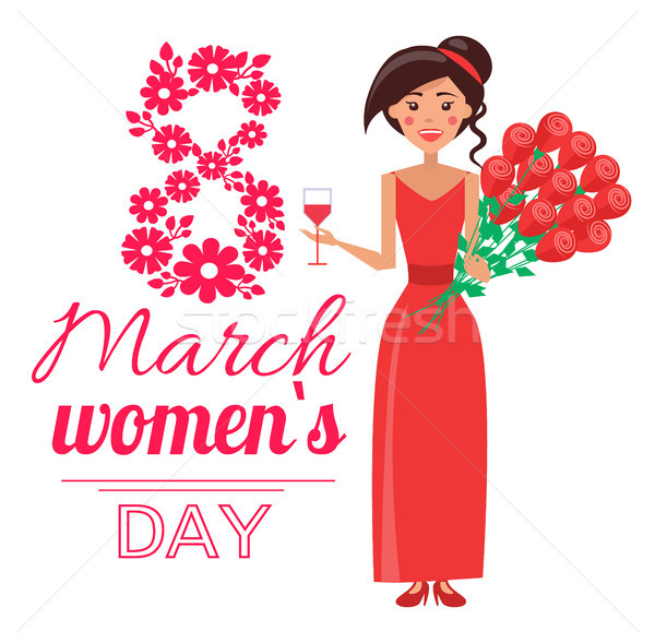8 March Womens Day Poster Vector Illustration Stock photo © robuart