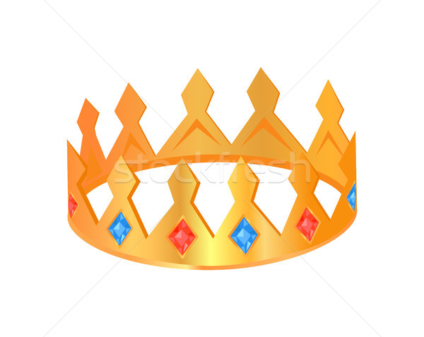 Crown with Jewelry Poster Vector Illustration Stock photo © robuart