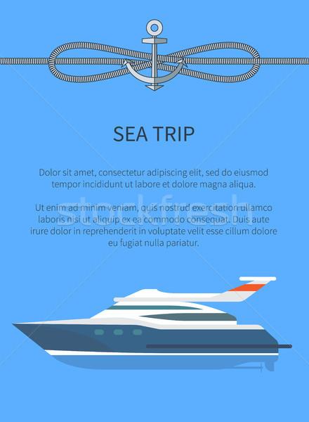 Mar trio navio texto amostra Foto stock © robuart