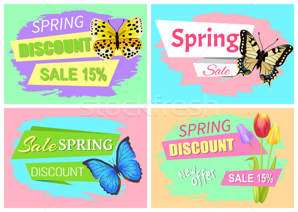 Collection of Spring sale Advertisement Springtime Stock photo © robuart