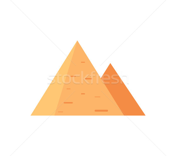 Egyptian Pyramids as Famous Ancient Attraction Stock photo © robuart