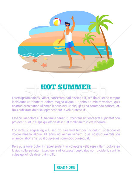 Hot Summer Vacation Abroad Advertisement Banner Stock photo © robuart
