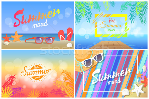Lata nastrój hot Hello summertime Zdjęcia stock © robuart