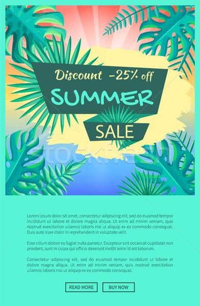 Korting 25 af zomer verkoop poster Stockfoto © robuart