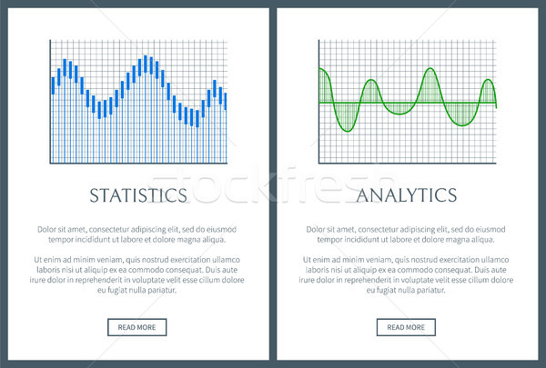 Statistics Collections Page Vector Illustration Stock photo © robuart