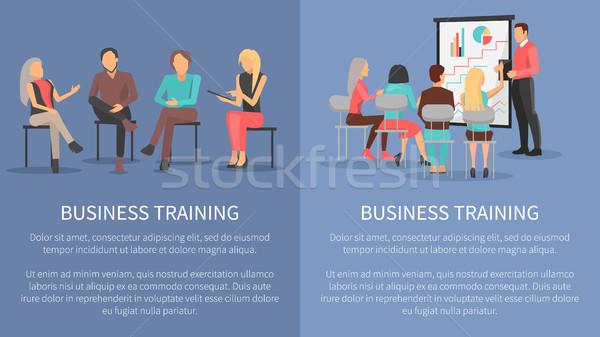 Negocios formación establecer carteles éxito motivación Foto stock © robuart