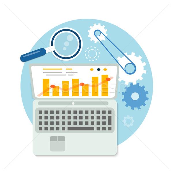 Seo ottimizzazione programmazione processo web analitica Foto d'archivio © robuart