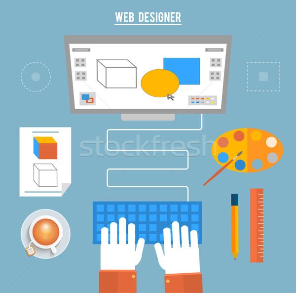 Programma design architettura schermo designer Foto d'archivio © robuart