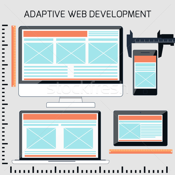Icons for adaptive web development Stock photo © robuart