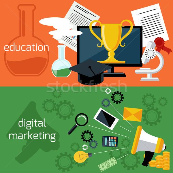 Online education and digital marketing Stock photo © robuart