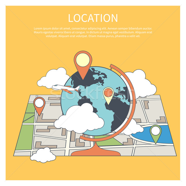 Location concept. World map infographic Stock photo © robuart