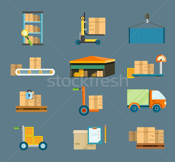 Delivery shipping concept Stock photo © robuart