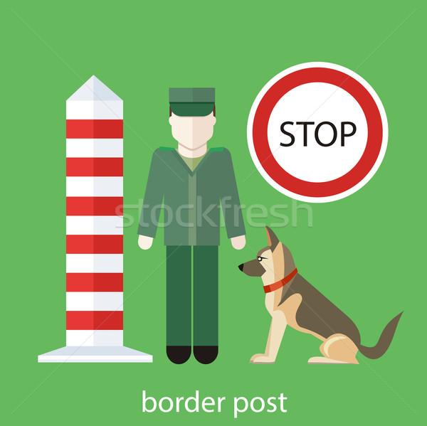 офицер контроль знак Таможня собака Сток-фото © robuart