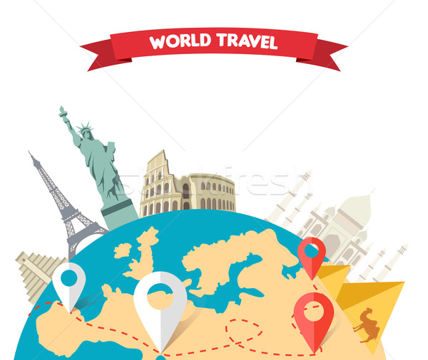 World Adventure Travel Stock photo © robuart