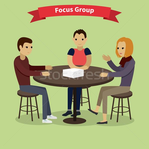 Groupe de discussion cible public marché recherche Photo stock © robuart