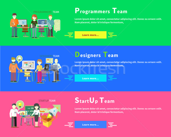 Startup Team. Programmers. Designers People Group Stock photo © robuart