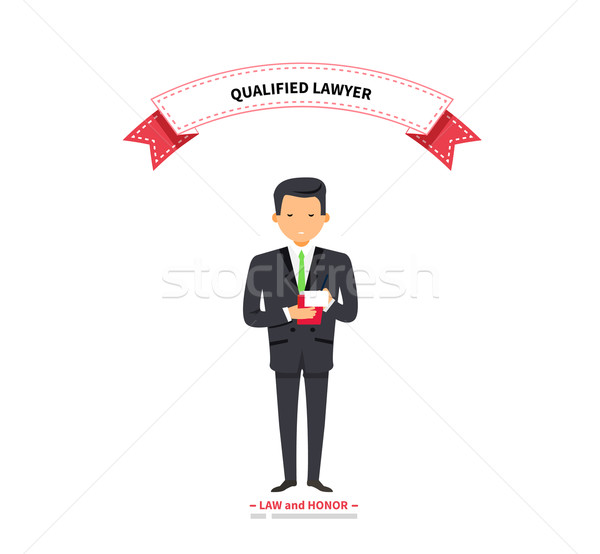Qualified Lawyer Man Stock photo © robuart
