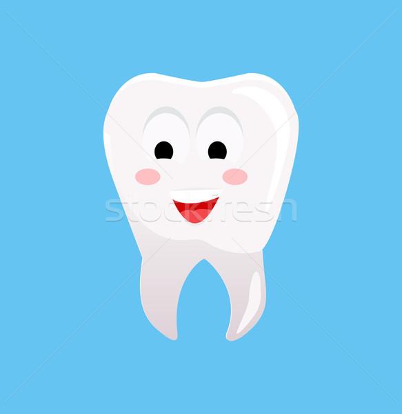 Gezonde tand blij gezicht glimlachend familie kinderen Stockfoto © robuart