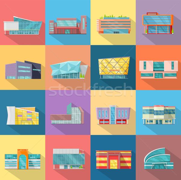 Case set architettura design edifici stile Foto d'archivio © robuart