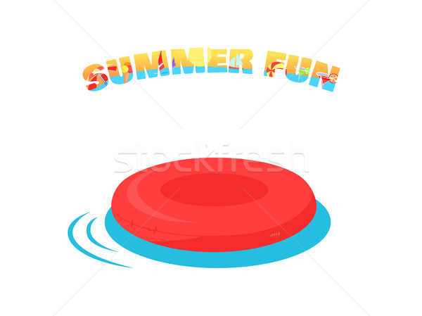 Summer Fun Concept Vector in Flat Design. Stock photo © robuart