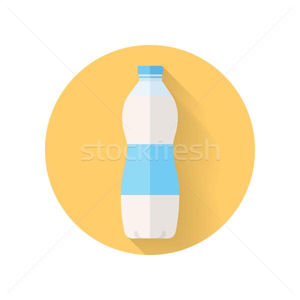 Fles verse melk stijl zuivelproduct vector ontwerp Stockfoto © robuart