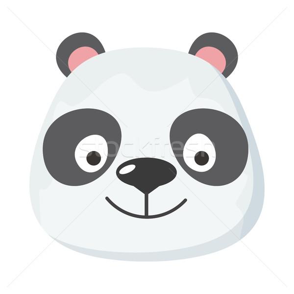 Panda cara diseno vector animales cabeza Foto stock © robuart
