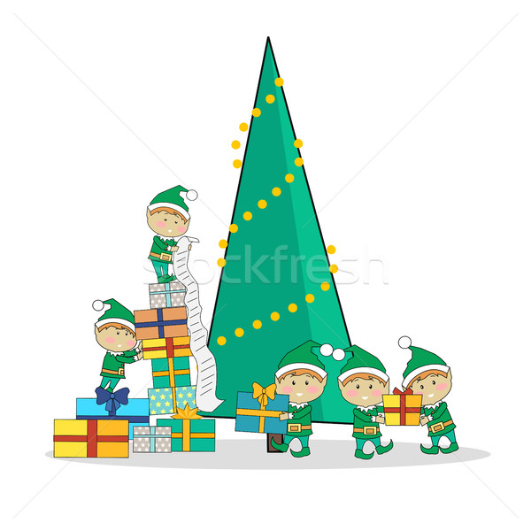 Stockfoto: Christmas · presenteert · boom · vrolijk · web